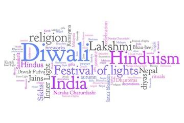 Diwali - word cloud illustration