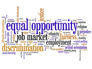 Discrimination - word cloud illustration