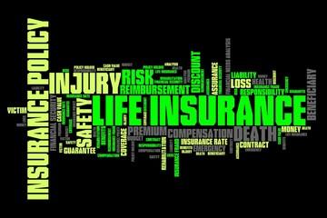 Life insurance - word cloud illustration