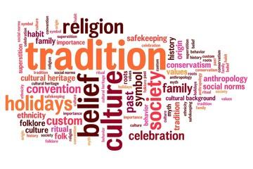 Tradition - word cloud illustration