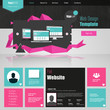 Flat Website template with abstract elements
