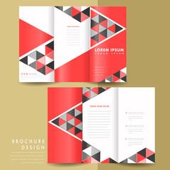 modern geometric tri fold brochure