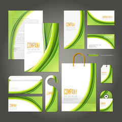 ecology concept corporate identity template set
