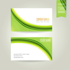 ecology concept background business card