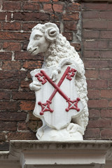 Sheep gate in the city of Leiden, Netherlands