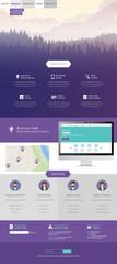 Modern website design template vector format