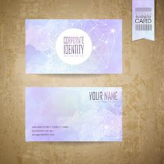 geometric style business card design