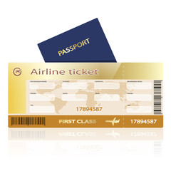 air ticket passport