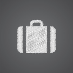 Case sketch logo doodle icon.