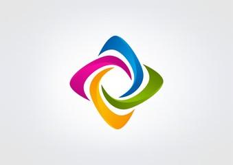 curl business logo Vector