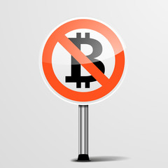 RoadSign No Bitcoin