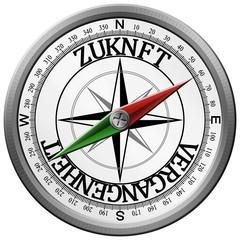 Kompass Zukunft Vergangenheit
