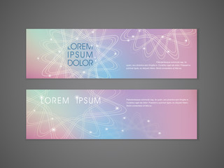 colorful flower shape background advertising banner