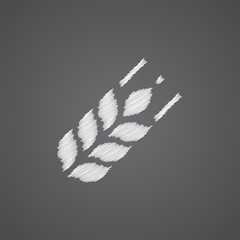 Agriculture sketch logo doodle icon.