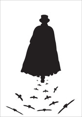 Jack The Ripper with Crows