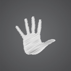 arm sketch logo doodle icon.