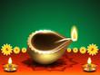diwali festival background with deepak