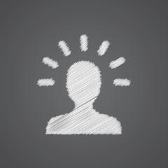 idea sketch logo doodle icon.