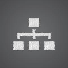 hierarchy sketch logo doodle icon.