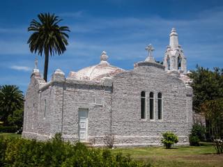 Church made of seashells in La Toja, Galicia, Spain