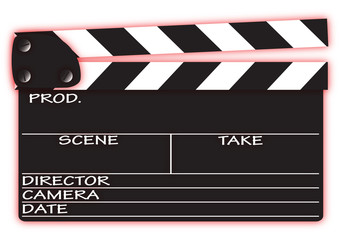 Clapper Board With Red