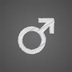 male sketch logo doodle icon.