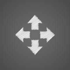 move sketch logo doodle icon.