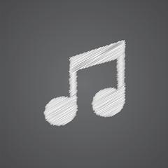 music sketch logo doodle icon.