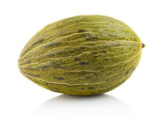 Piel de sapo green melon isolated white in studio