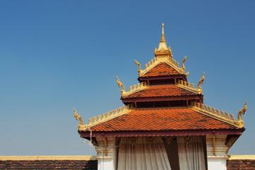 Entrance of  Wat Phra That Luang, Laos temple