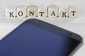 Mobiltelefon und Kontakt