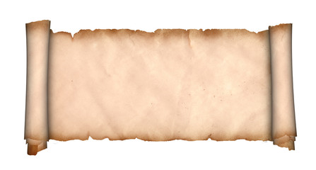 Parchment scroll.