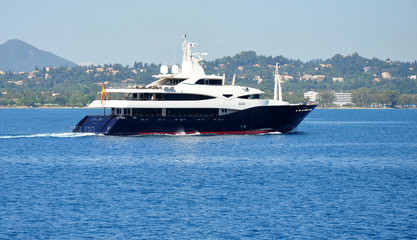 modern yacht at sea