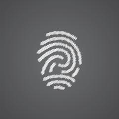 fingerprint sketch logo doodle icon.