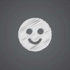 smile sketch logo doodle icon.
