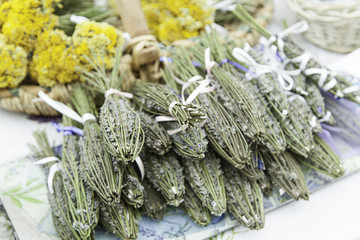 Aromatic Lavender in a market