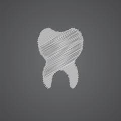 tooth sketch logo doodle icon.