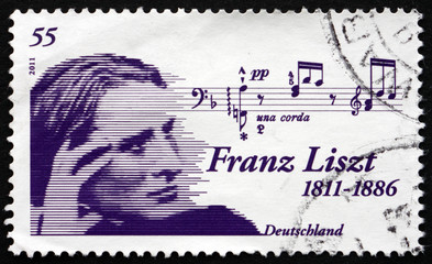 Postage stamp Germany 2011 Franz Liszt, Hungarian Composer