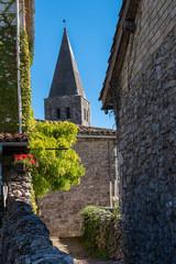 Clocher église Saint corneille Puycelsi