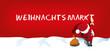 Santa Claus schreibt Weihnachtsmarkt