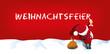 Weihnachtsmann schreibt Weihnachtsfeier