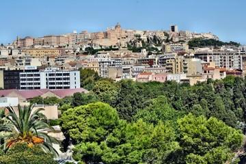 Vista su Cagliari dal Colle di Bonaria