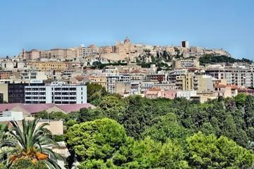 Vista della città di Cagliari dal Colle di Bonaria