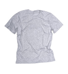 gray t-shirt on a white background