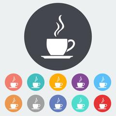 Cafe flat single icon.