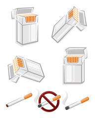 Cigarette packs set. Vector