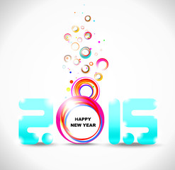 New year 2015. Abstract poster