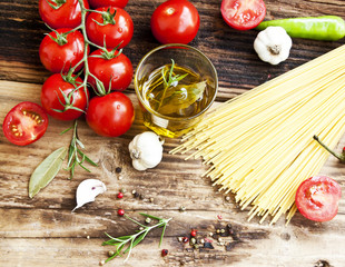 Cherry Tomatoes, Olive Oil,Pasta and Spices,Mediterranean Ingred
