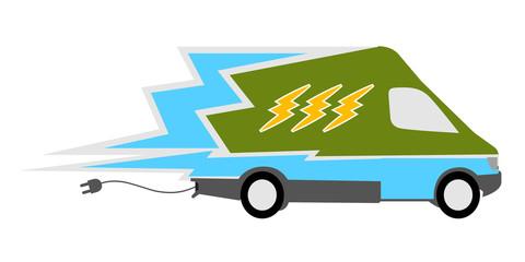 Electric Car Concept. Vector illustration