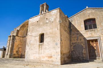 Church of St. Pietro. Craco. Basilicata. Italy.